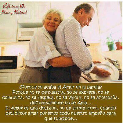 ¿Porqué se acaba el Amor en la pareja? Porque no se demuestra, no se expresa, no se comunica, no se respeta, no se valora, no se acompaña, definitivamente no se Ama...