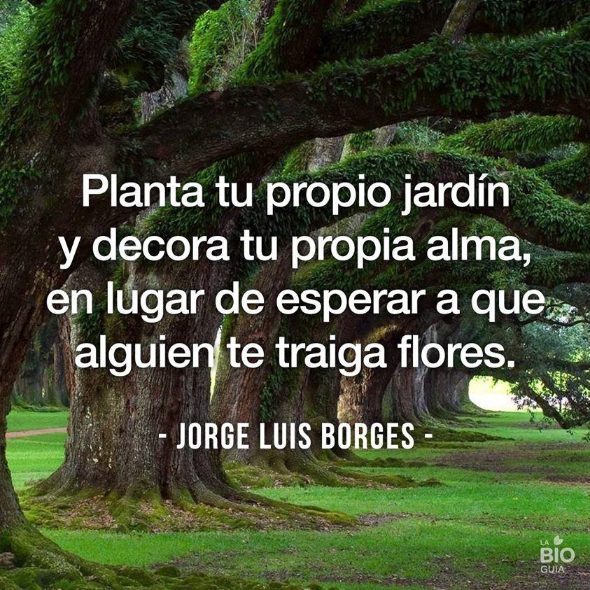 Planta tu propio jardín y decora tu propia alma, en lugar de esperar a que alguien te traiga flores