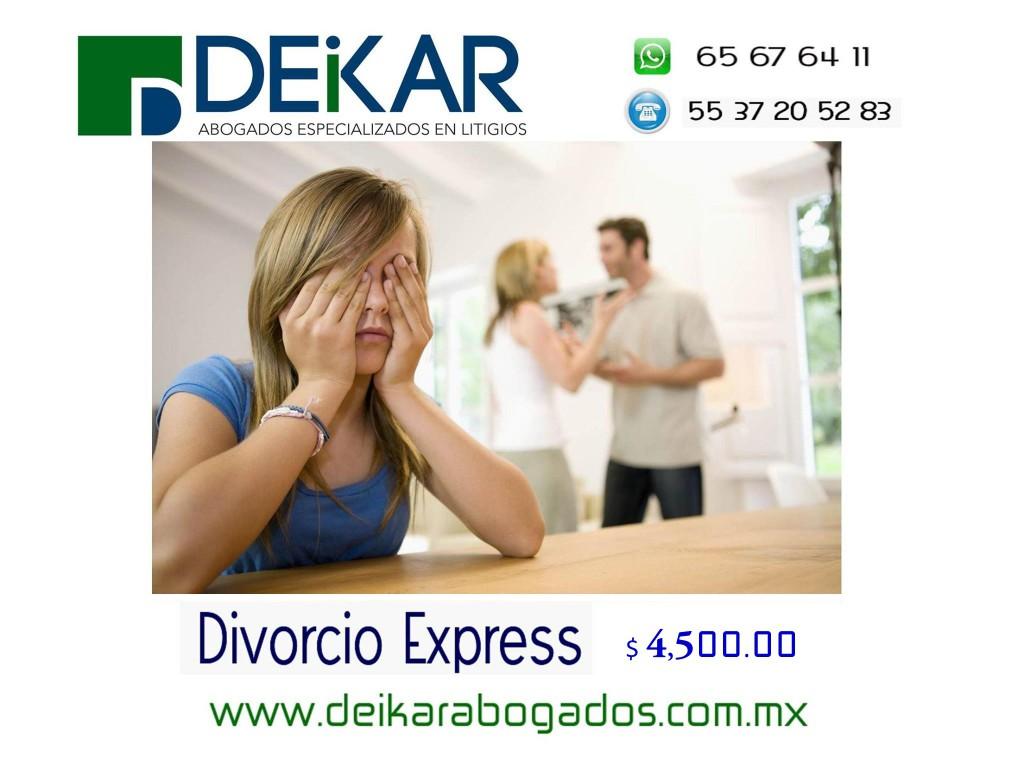 Divorcio Express Económico, Distrito Federal