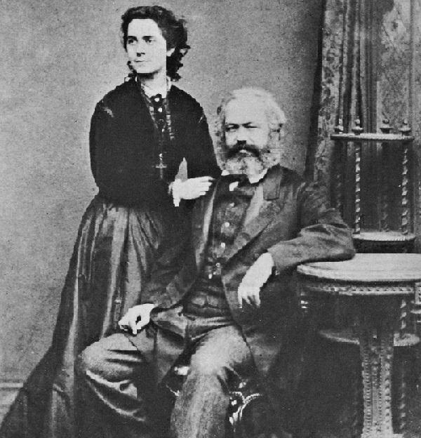 Jenny Marx junto a Karl Marx