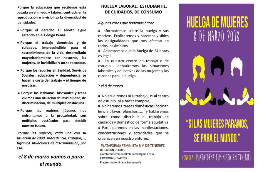 Manifiesto del 8 de Marzo – Huelga General Feminista