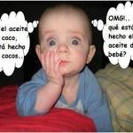 Si el aceite de coco está hecho de coco. De qué está hecho del aceite de bebé.