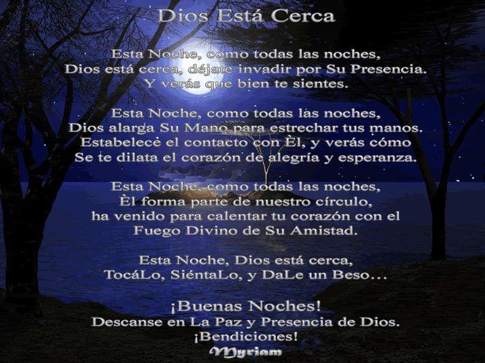 buenas noches descanse en la Paz y presencia de Dios