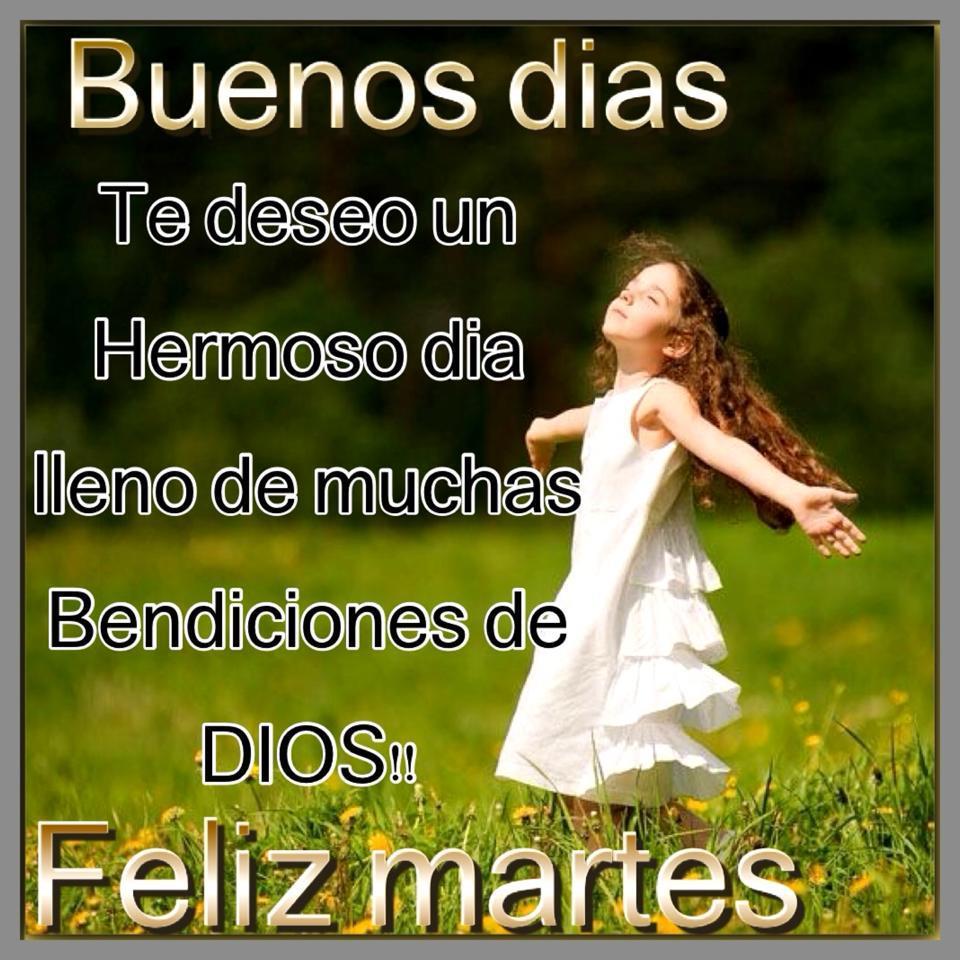 Buenos días, te deseo un hermoso día lleno de muchas bendiciones de Dios.  Feliz