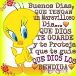 Buenos Dias, Que tengan un dia maravilloso...Que Dios te guarde y te proteja y que te guie. Que Dios los Bendiga.