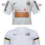 Camiseta del Santos con Neymar. Camiseta del Santos sin Neymar