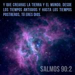 Dios creó la tierra y el mundo