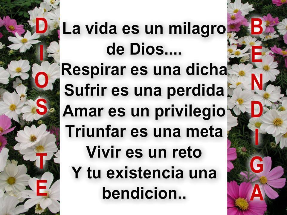 La vida es un milagro de Dios
