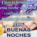 Dios te bendiga en esta noche, descansa confiad@ en los brazos de nuestro Dios. Buenas Noches.