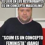 El Lujo en los Restaurantes es un concepto masculino.