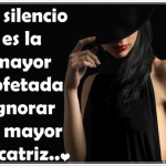 El silencio e ignorar