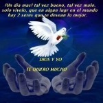 Te deseamos lo mejor: Dios y yo