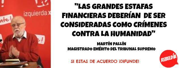 Las Grandes estafas financieras deberían de ser consideradas como crímenes contra la Humanidad.