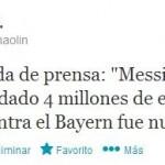 Xavi sobre Messi