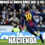 Messi marca al único rival que le faltaba..