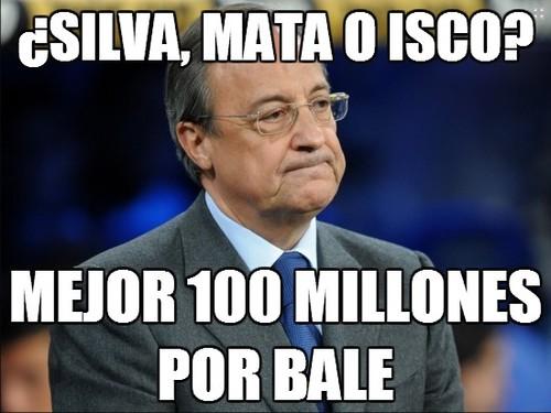 Silva, Mata o Isco, mejor 100 millones por Bale.