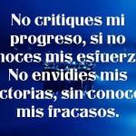No critiques no envidies