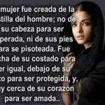 La mujer fue creada...