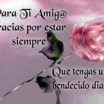 Para tí amig@ gracias por estar siempre