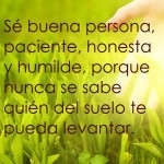 Sé buena persona