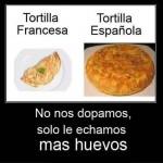 Tortilla Francesa-Tortilla Española