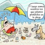 Perros prohibidos en las playas
