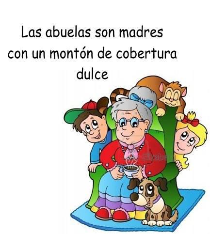 Las abuelas son madres con un montón de cobertura dulce