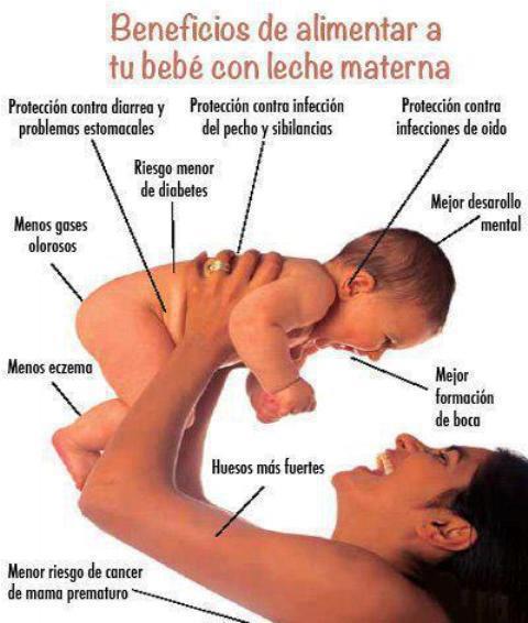 Beneficios de alimentar a tú bebé con Leche Materna