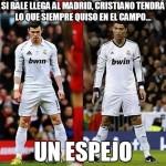 Si Bale llega al Madrid, Cristiano tendrá lo que siempre quiso en el campo...Un espejo.
