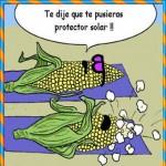 Te dije que te pusieras protector solar