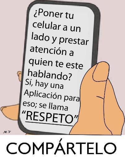 ¿Poner tu celular a un lado y prestar atención a quien te este hablando? Sí, hay una aplicación para eso: se llama Respeto.