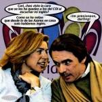 Ana Botella y su Marido. Cari ¿has visto la cara que se les ha quedao a los del Coi al escuchar mi inglés?