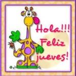 Hola. Feliz Jueves