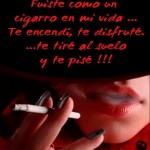Fuiste como un cigarro...