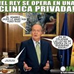 El Rey de España se opera en una Clínica Privada.