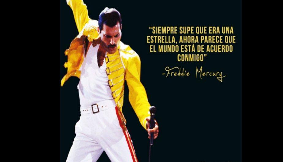 Siempre supe que era una estrella. Ahora parece que el mundo está de acuerdo conmigo. Freddie Mercury