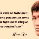 Esperar que la vida te trate bien porque seas buena persona, es como esperar que un tigre no te ataque porque seas vegetariano. Bruce Lee