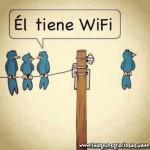 Él tiene Wifi