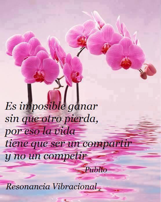 Es imposible ganar sin que otro pierda, por eso la vida tiene que ser un compartir y no un competir. Publio