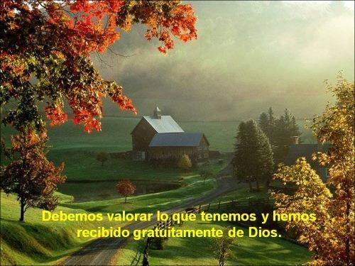 Debemos valorar lo que tenemos y hemos recibido gratuitamente de Dios