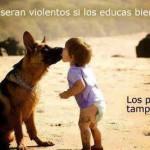 No serán violentos si los educas bien...Los perros tampoco