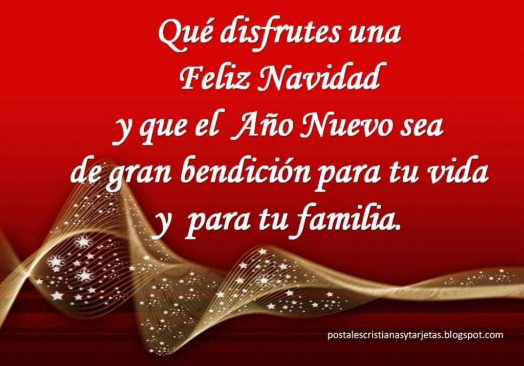 Que disfrutes una Feliz Navidad y que el Año Nuevo sea de gran bendición para tu vida y para tu familia.