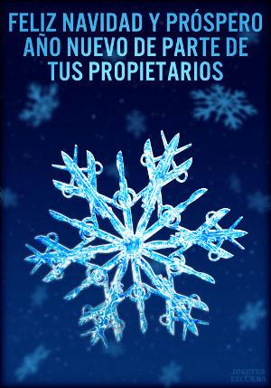 Feliz Navidad y próspero Año Nuevo de parte de tus propietarios.