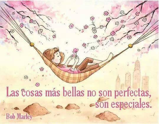Las cosas más bellas no son perfectas, son especiales. Bob Marley
