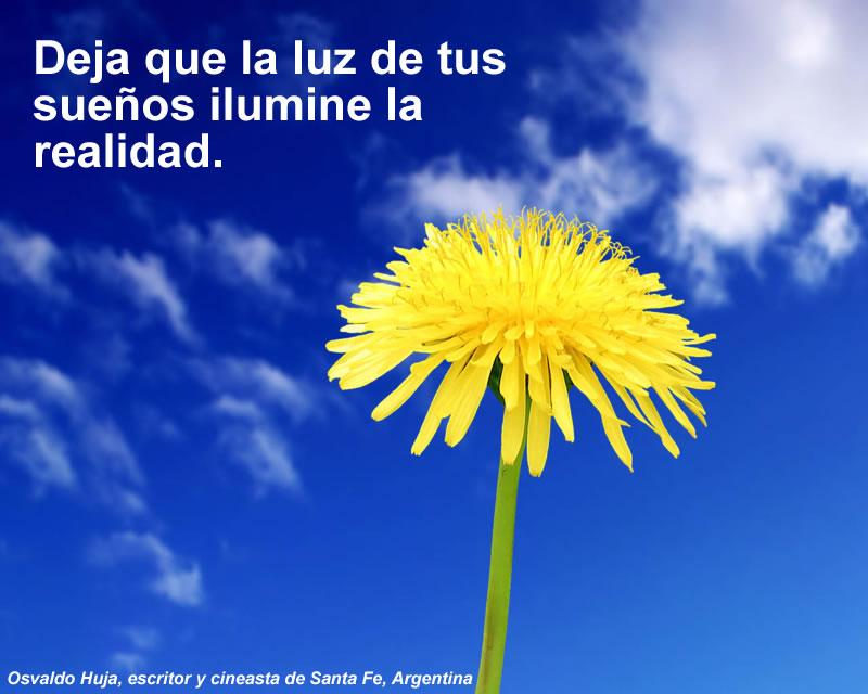 Deja que la luz de tus sueños ilumine la realidad.