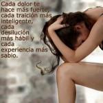 Cada dolor te hace más fuerte, cada traición más inteligente, cada desilución más hábil y cada experiencia más sabio.