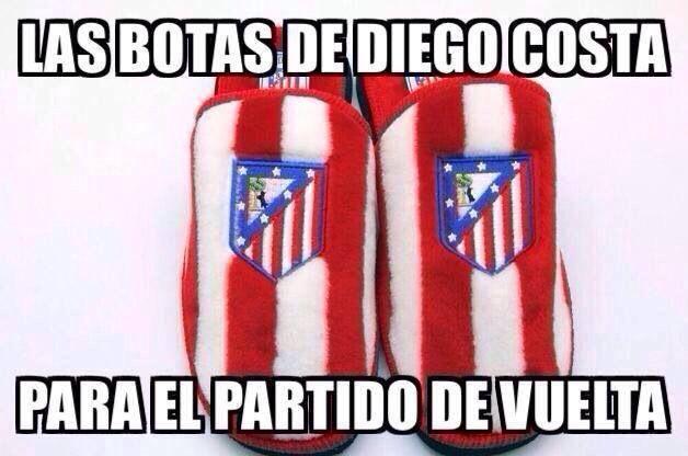 Las botas de Diego Costa para el partido de vuelta.