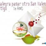 Me alegra pasar otro San Valentín contigo. Te Amo