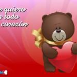 Te quiero con todo mi corazón. Feliz Día de San Valentín