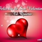 Feliz día de San Valentín. Te quiero